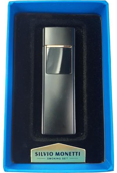 Silvio Monetti Sm S3017BL USB Şarjlı Elektronik Elektrikli Çakmak