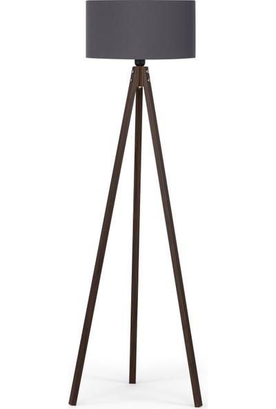 Noom Art Tripod Lambader Gri Başlık Kahverengi Ayak