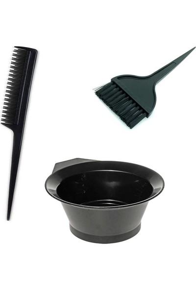 FT Saç Boyama Seti 3 Parça - Boya Tası + Boya Fırçası + Krepe Tarağı