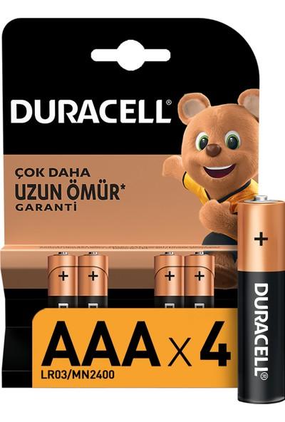 Duracell Alkalin AAA İnce Kalem Piller 4'lü paket