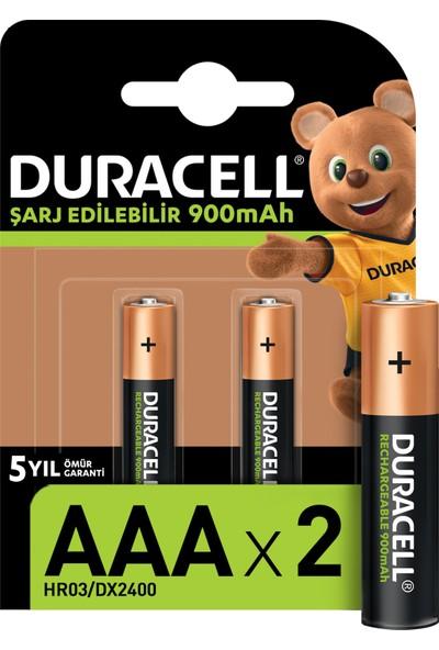 Duracell Şarj Edilebilir AAA İnce Kalem Pil 900 mAh 2'li Paket