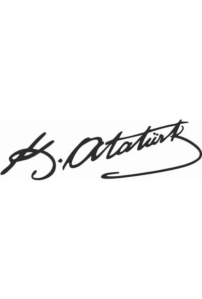Sticker Atölyesi Atatürk Imza Sticker - 11005 Siyah 15 x 4.5 cm