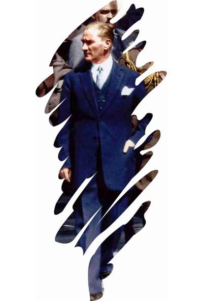 Sticker Atölyesi Atatürk Sticker - 11018 Renkli 18 x 8 cm