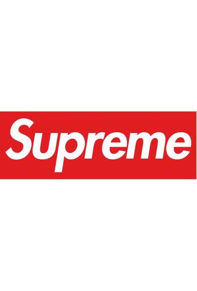 Sticker Atölyesi Supreme Sticker - 10104 Kırmızı 10 x 3.5 cm