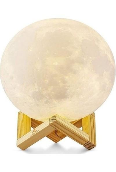 Petit 3D Ay Şeklinde Dekoratif Gece Lambası