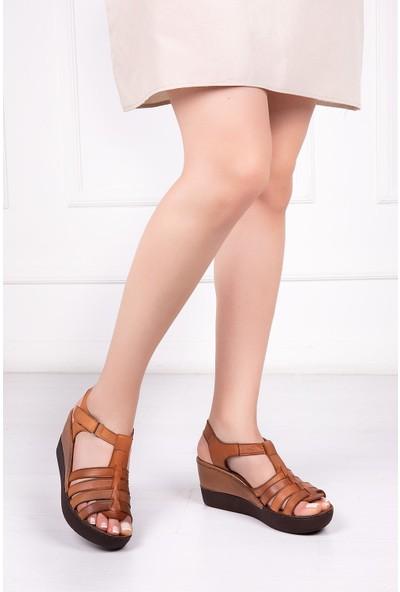 Deripabuc Hakiki Deri TABA Kadın Sandalet DC-0162