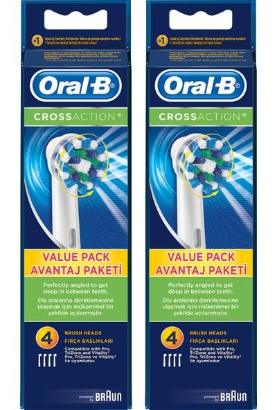 Oral-B Cross Action 8'li Diş Fırçası Yedek Başlığı