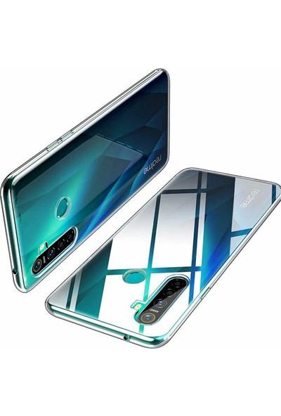 Tekno Grup Realme 6 Kılıf Süper Silikon Kılıf + Cam Ekran Koruyucu Şeffaf