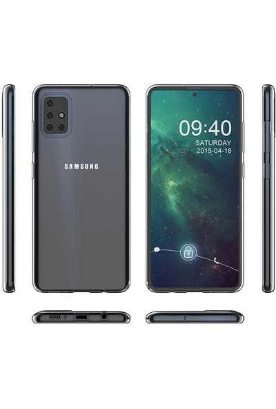 Tekno Grup Samsung Galaxy M31 Kılıf Süper Silikon Kılıf Şeffaf