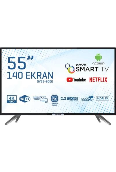 """Onvo OV55-9000 55"""" 140 Ekran Uydu Alıcılı 4K UHD Smart LED TV"""
