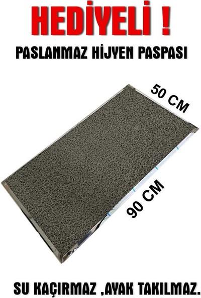 Bayz Paslanmaz Hijyen Paspası Dezenfektan Paspası 90x50 cm
