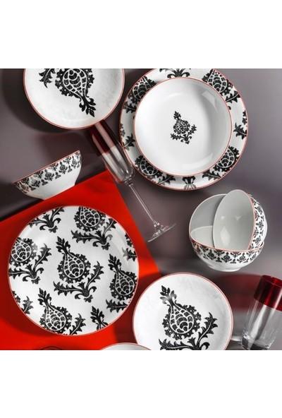 Kütahya Porselen 10733 Zeugma 24 Parça Yemek Takımı Siyah