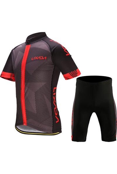 Lixada Erkek Bisiklet Giysi Set Hızlı Kuru Kısa Kollu