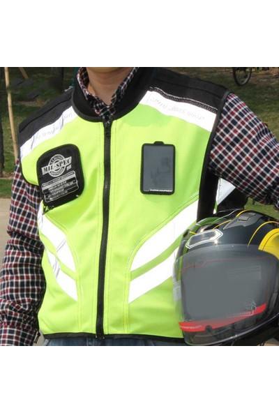 Buyfun Spor Motosiklet Yansıtıcı Yelek Yüksek Görünürlük Floresan