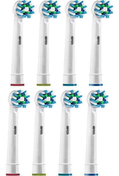 Oral B Diş Fırçasına Uyumlu Yedek Başlık 8'li Fırsat Paket