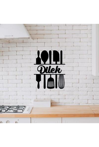 Meşgalem Isme Özel Ahşap Dekoratif Mutfak Süsü