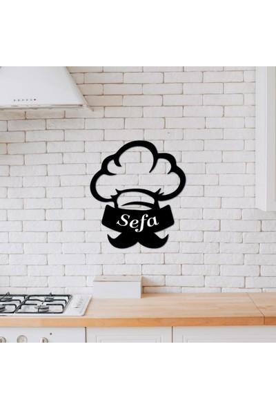 Meşgalem Isme Özel Ahşap Dekoratif Mutfak Aşçı Külahı Süsü