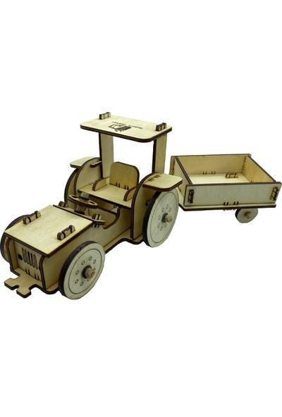 Makers Dükkan Ahşap Traktör Maket