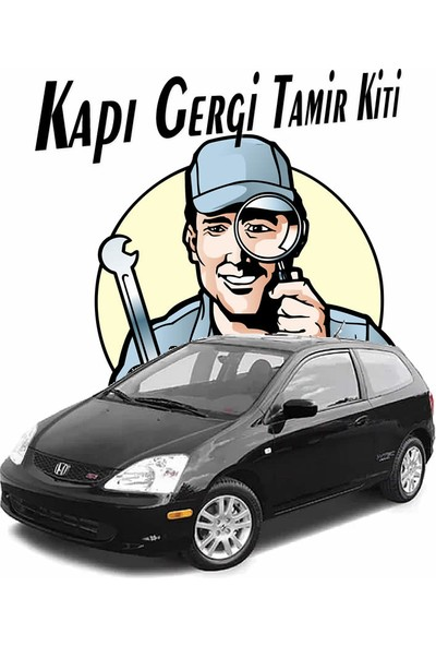 Barrer Honda Civic Sport Kapı Gergi (Limitör) Tamir Kiti 2002-2006 (2 Kapı Set)