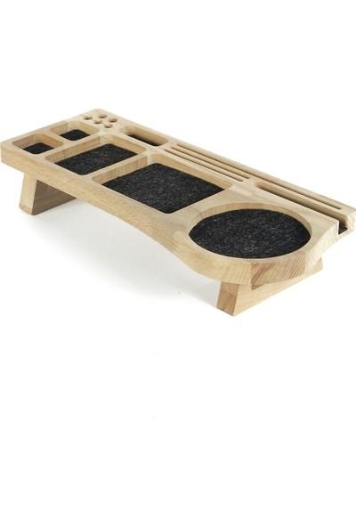 Fagus Wood Mini Stanley Masa Düzenleyici Füme