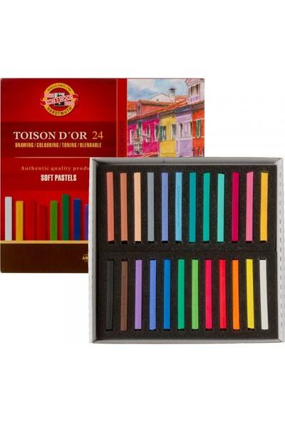 Koh-I-Noor Toison Dor Soft Pastel Köşeli 24LÜ (8584)
