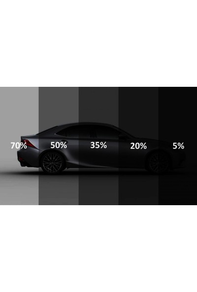 Dark Plus % 35 Siyah Açık Ton Cam Filmi (50cm x 6m)