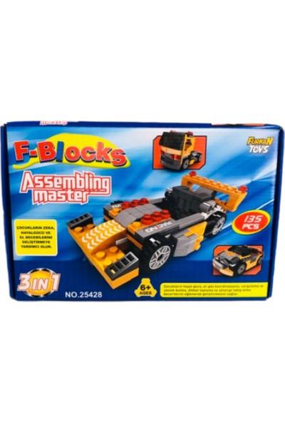 Furkan Toys F-Blocks Assembling Master 135 Parça 3 In 1