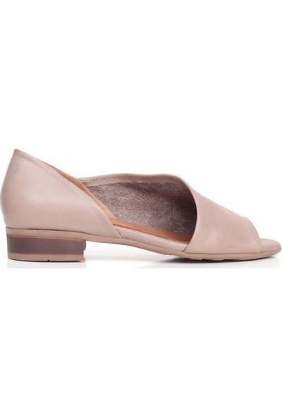 Bueno Shoes Yanlardan Açık Hakiki Deri Kadın Düz Sandalet 9N5112