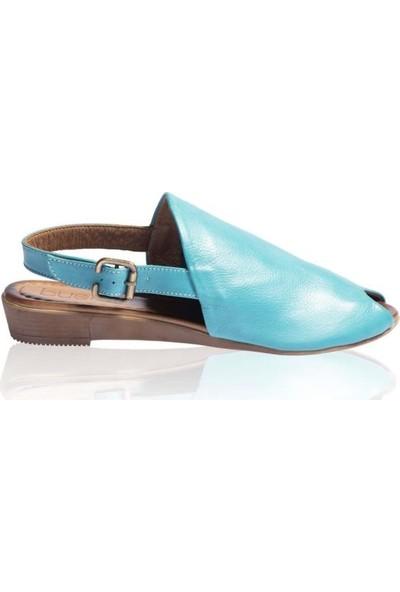 Bueno Shoes Kemerli Hakiki Deri Kadın Düz Sandalet 9N7205