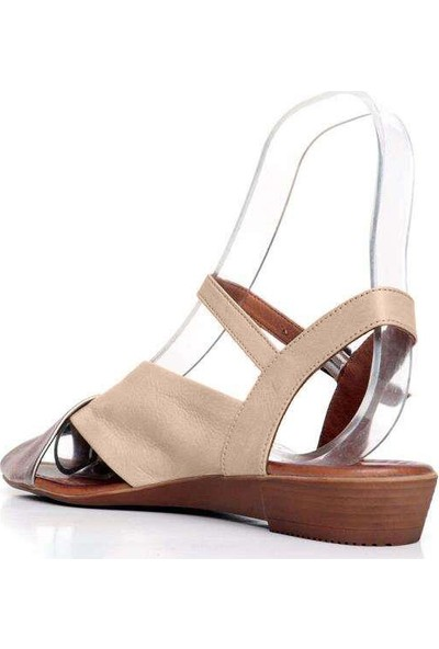 Bueno Shoes Renkli Kemerli Hakiki Deri Kadın Düz Sandalet 9N7209