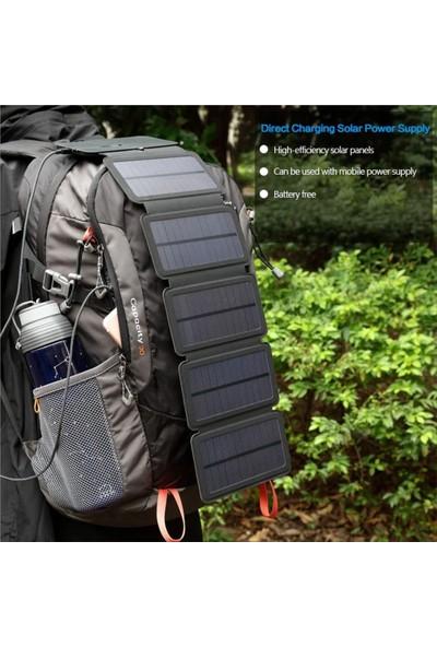 Valkyrie Katlanabilir 5 Panelli Solar Şarj Cihazı Hızlı Şarj 20 W 2.1 A