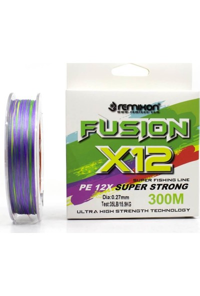 Remixon Fusion X12 Multicolor 300 m İp Misina