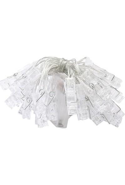 Genx Şerit Mandallı LED Beyaz 20'li