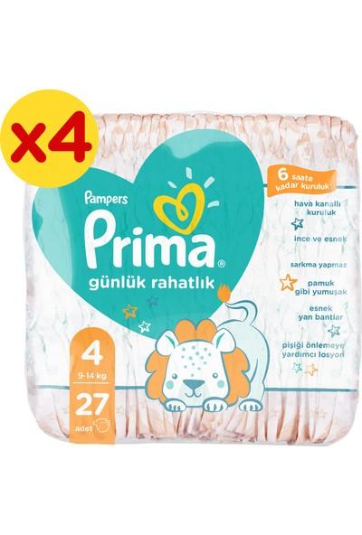 Prima Bebek Bezi Günlük Rahatlık 4 Beden 108 Adet Fırsat Paketi 27x4