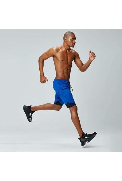 Lixada Erkek Egzersiz Koşu Spor Şort 2 in 1 Cepler ile Atletik