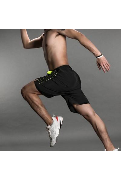 Buyfun Erkekler Koşu Şort Çabuk Kuruyan Nefes Aktif Eğitim