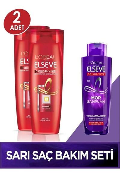 Loreal Elseve Renk Koruyucu Şampuan Seti 360ML 2li+Mor Şampuan