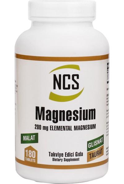 Ncs Magnezyum Bisglinisat Malat Taurat 200 mg 180 Tablet