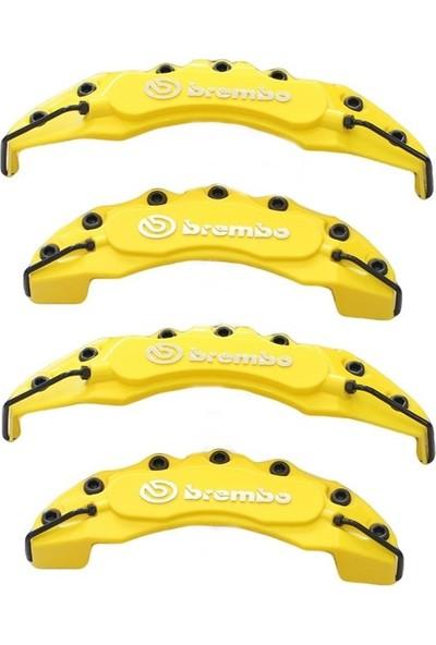 Brembo Sarı Kaliper Kapağı 4'lü Yağ Hortumlu