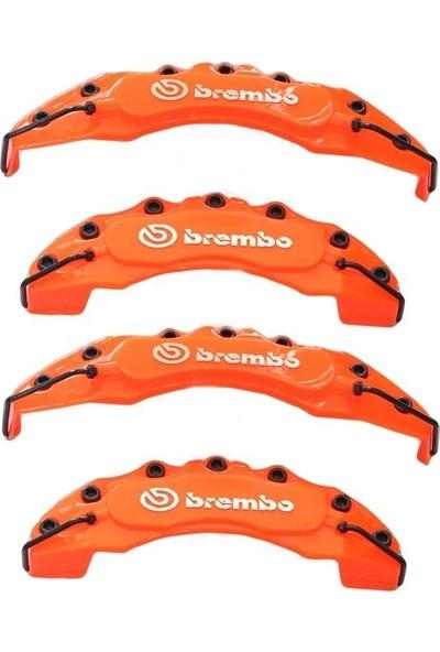 Brembo Turuncu Kaliper Kapağı 4'lü Yağ Hortumlu