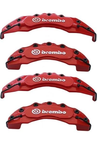 Brembo Kırmızı Kaliper Kapağı 4'lü Yağ Hortumlu