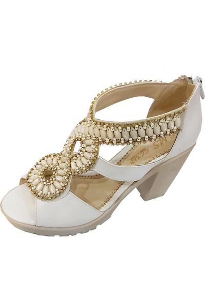Sms 1190 Taşlı Kadın Sandalet