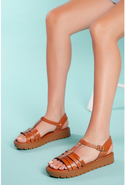 Muggo SNDT04 Deri Sandalet