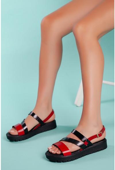 Muggo SNDT05 Deri Sandalet