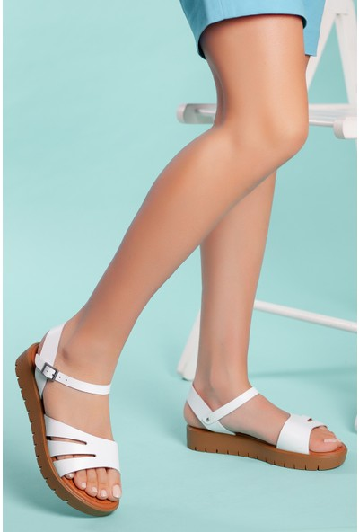 Muggo SNDT07 Deri Sandalet
