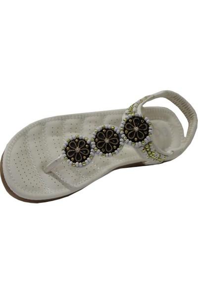 Guja 20Y150-7 Beyaz Comfort (36-41) Parmak Arası Kadın Sandalet