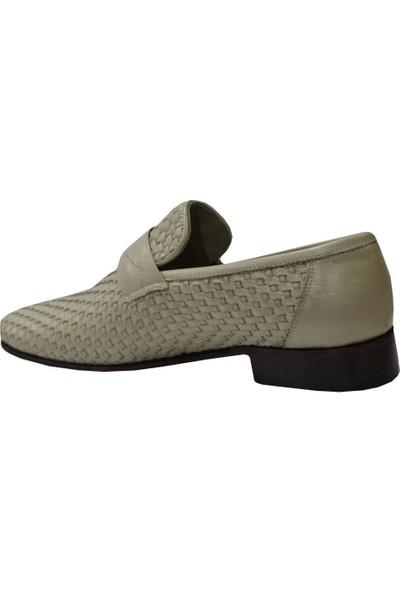 Mehmet Mete 0011 Krem Suphi Deri Kösele Erkek Ayakkabı