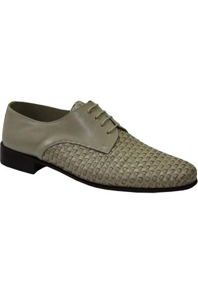 Mehmet Mete 0077 Krem Suphi Deri Kösele Erkek Ayakkabı