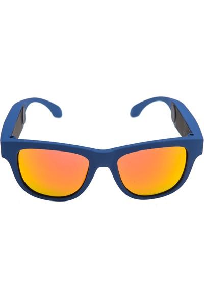 OxO Akıllı Güneş Gözlüğü NAVY (Kırmızı Cam)