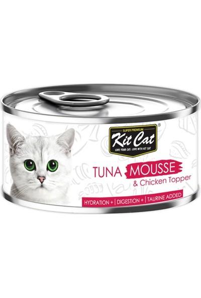 Kit Cat Tuna Mousse & Tavuk Parçacıklı Kedi Konservesi 80 g